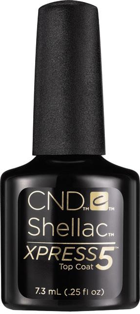 CND™ SHELLAC™ -  XPRESS5™ TOP COAT - vrchní vrstva 0.25oz (7,3ml) - odstraníte v 5 minutách!