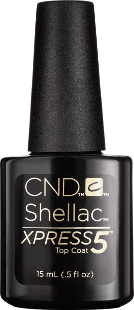 CND™ SHELLAC™ -  XPRESS5™ TOP COAT - vrchní vrstva 0.5oz (15ml) - odstraníte v 5 minutách!