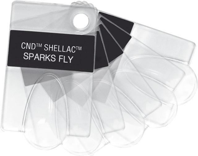 VZORNÍK - doplnění - CND SHELLAC - 6 ks prázdných tipů s názvy laků kolekce FLIRTATION