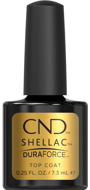 CND™ SHELLAC™ - DURAFORCE™ TOP COAT -zpevňující vrchní vrstva 0.25oz(7,3ml) pro slabé a křehké nehty