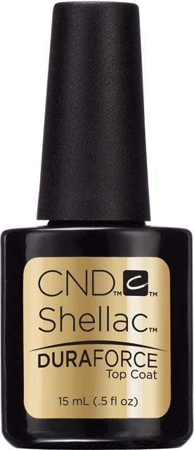 CND™ SHELLAC™ - DURAFORCE™ TOP COAT - zpevňující vrchní vrstva 0.5oz (15ml) pro slabé a křehké nehty