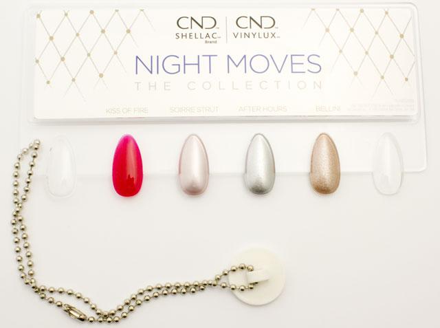 Vzorník CND SHELLAC™ a VINYLUX - kolekce NIGHT MOVES, zima 2018