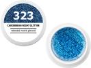 Spalvotas gelis - 323 - CARIEBBEAN NIGHT GLITTER - dangiška žydra blizganti, 5g