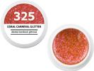 Spalvotas gelis - 325 - CORAL CARNEVAL GLITTER - laukinių koralų blizganti, 5g