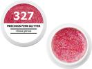 Spalvotas gelis - 327 - PRECIOUS PINK GLITTER - įmantri rožinė blizganti, 5g