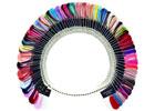 VZORNÍK CND SHELLAC - 83 tipů s odstíny CND SHELLAC 14+ brand nail color